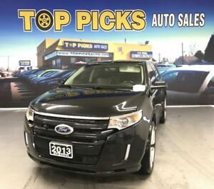 2013 Ford Edge LOW KMS! Sport, 22's, Navi, Pan Roof, Leather!