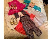 Baby Girl 6-9 Month Designer - Calvin Klein - Bundle Dresses Playsuit Shoes