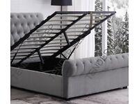 BRAND NEW SLEIGH STORAGE BED FRAME IN GREY COLOUR -OPTIONAL MATTRESS!!!!!
