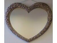 Heartshaped wall mirror