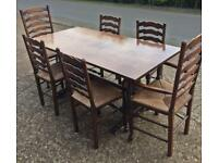 Refectory table & 6 Chairs