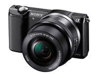 Sony Alpha A5000 20.1MP Digital Camera - Black Kit with 16-50mm Lens