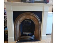 Daventry cast iron fire, hearth and surround.