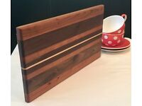 Handcrafted Walnut, Cherry and Maple Cutting or Serving Board