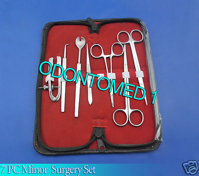 7 Pcs Set Of Minor Micro Surgery Ophthalmic Instruments Kit