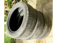 All weather 205 55 16 tyres x4 £25 bargain!