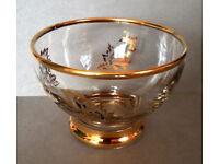 gold embossed glass dessert bowls