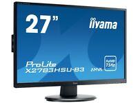 Used, Good Condition Iyama 27 Inch LCD Monitor LED Backlit ProLite X2783HSU-B3
