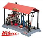 WILESCO  D145 STOOMMACHINE FABRIEK MET FIGUREN | MTT Models
