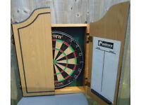 Unicorn Hustler Dart Board in Cabinet