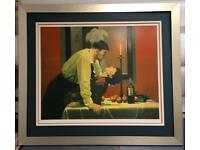 """Jack Vettriano """"The party's over """" Limited Edition silkscreen #102/250"""