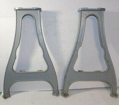 Vintage Delta Metal Lathe Part - No.945 Cast Iron Legs Pair Set Table