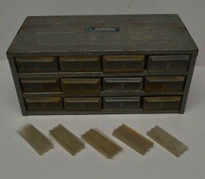 Vtg 12 Drawer Metal Hardware Storage Bin Parts Organizer Hobby Cabinet Rat Rod