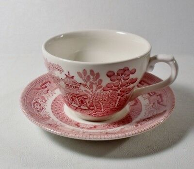 Churchill Pink Willow (4 Churchill England ROSA PINK WILLOW Cups & Saucers MINT)