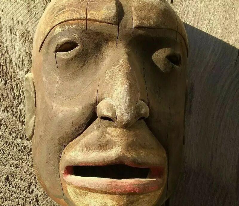 Northwest Coast Mask Bella Bella Heiltsuk Mask Native American Indian Carving