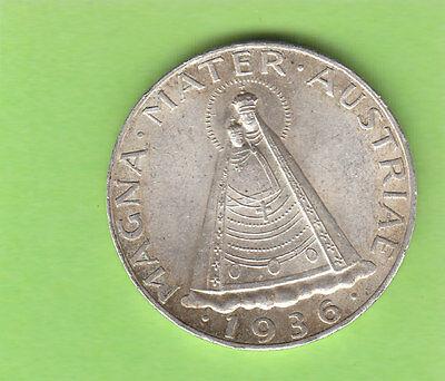 Österreich 5 Schilling 1936 toll erhalten seltenster Jahrgang nswleipzig