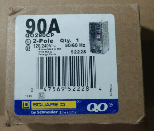Square D by Schneider Electric QO290CP QO 90-Amp Two-Pole Circuit Breaker - NEW