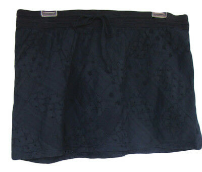 AMERICAN EAGLE Size 6 Navy Blue Eyelet Cotton Patchwork Mini Skirt NWT $39