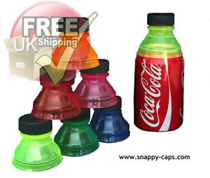 6 X Can Cap Snappy Cap ***GENUINE UK SELLER*** Snap Bottle Top Covers Drink Lid