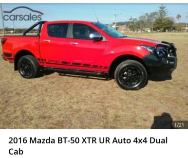 2016 Mazda BT-50 XTR