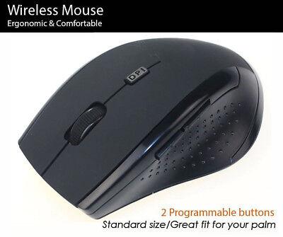 Wireless Laser Mouse Mice Ergonomic PC Laptop Notebook fit l