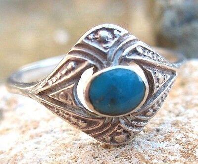 anmutiger ethno ring im indianerstil silber achat 18,5 mm vintage 5