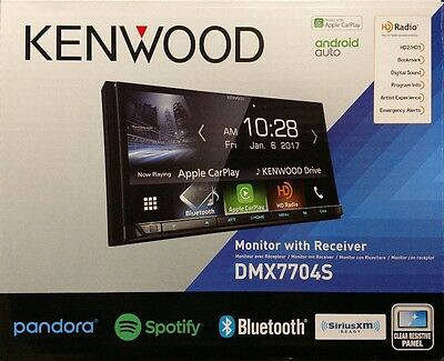 Kenwood DMX7704S Monitor with Receiver Apple CarPlay/Android Auto/BT/SiriusXM