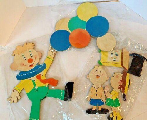 Vintage Kids Nursery Bedroom Wall Decor Balloon Seller Kids Mid Century Cutouts