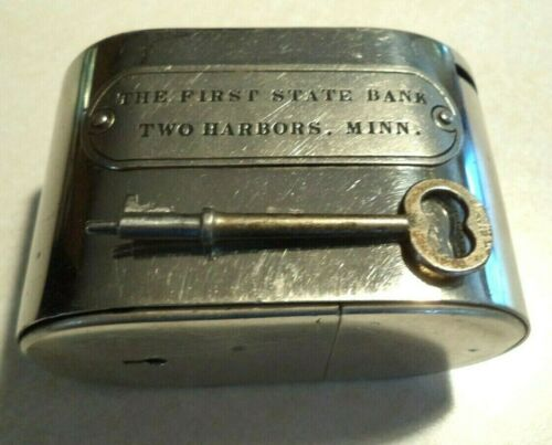 W.F. BURNS Co. The First State Bank of Two Harbors,  Minn. 1 Key # 215 Antique