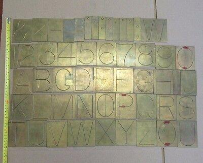 3 Brass Engraving Letter Number For Gorton Deckel Pantograph Engraver