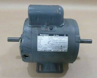 Westinghouse 6k012 12hp Double Shaft Ac Motor 1725rpm 56z 1ph 115v 9.8a 60hz