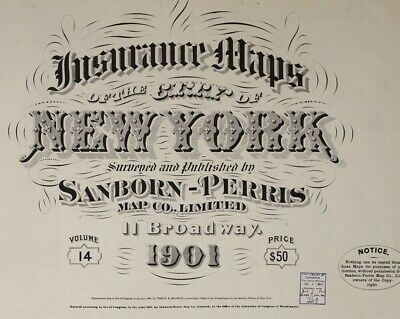 Bronix, New York~Sanborn Map©~sheets~ 65 maps in color~Vol. 14