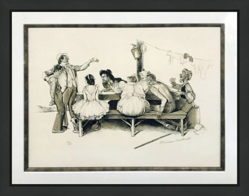 "Norman Rockwell ""circus"" 1971 