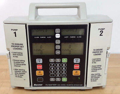Lot -two -2x Baxter Flogard Flo-gard 6301 Dual Channel Infusion Iv Pump Battery