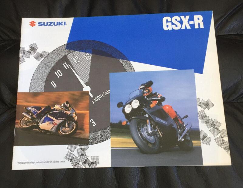 1989 SUZUKI GSX-R750 GSX-R1100 ORIGINAL DEALER SALES BROCHURE GSXR 750 1100 RARE