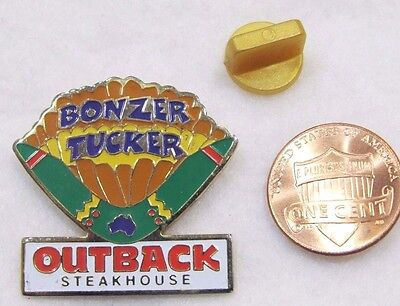 Outback Steakhouse Bonzer Tucker Lapel Pin Pinback Travel Food Menu