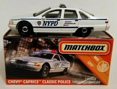 NEW 2020 MBX Matchbox Power Grabs NYPD CHEVY CAPRICE Classic POLICE CAR HTF