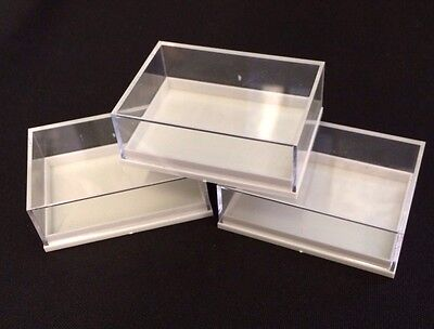 20 x PENDANT PERSPEX DISPLAY BOXES IDEAL FOR FOSSILS,METEORITES,COINS,JEWELLERY