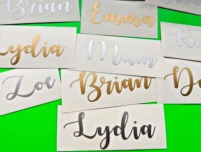 2X CUSTOM TEXT Name Stickers Vinyl Decal Christmas  Wedding Gift Box Hen Party