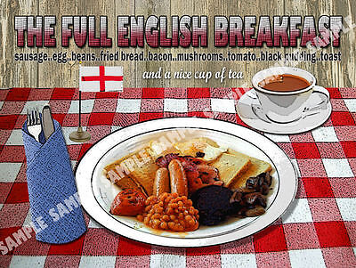 Full House Signs (THE FULL ENGLISH  BREAKFAST  DINER KITCHEN :HOUSE DECOR:IDEAL GIFT METAL SIGN)
