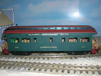 EAST BROAD TOP BUSINESS CAR ORBISONIA Railroad On30 Laser Wood Quik-Kit DFT20