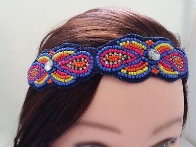 Oriental motif Multicolored Handcrafted Beaded Headband Z6-inC/22
