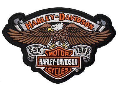 HARLEY DAVIDSON ESTABLISHED 1903 EAGLE VEST PATCH BAR AND SHIELD BANNER