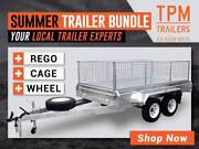 MEGA BUNDLE SALE 8x5 Tandem Trailers Galvanised FREE CAGE REGO Campbellfield Hume Area Preview
