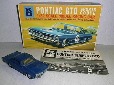 K&B PONTIAC TEMPEST GTO  1/32 Scale SLOT CAR Built Up With Box Nice Tested Runs!