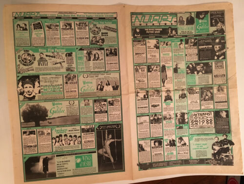 Vintage NUART THEATRE Calendar Schedule from March of 1987 LA  Arthouse Rocky Ho