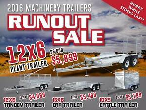 RUN OUT SALE - 2016 Machinery Trailers - Hurry While Stocks Last Coopers Plains Brisbane South West Preview