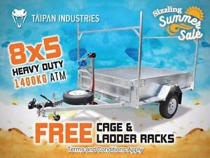 8x5 Heavy Duty Trailer FREE CAGE & LADDER RACKS 1400KG ATM Brisbane City Brisbane North West Preview