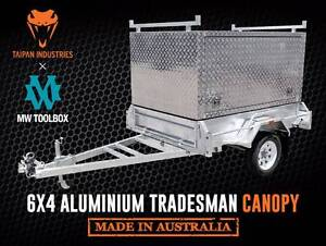 6x4 | 7x4 | 7x5 | 8x5 Tradesman Aluminium Canopy Box Trailer Coopers Plains Brisbane South West Preview