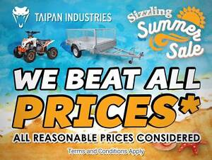 Summer Special! HotDippedGal 7x4 Tilt Trailer FREE 600mm CAGE Coopers Plains Brisbane South West Preview